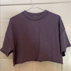Purple cropped tshirt